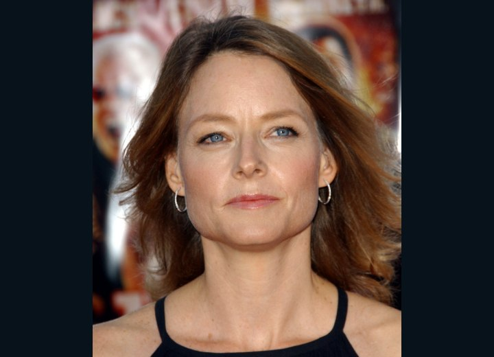 Jodie Foster with sweeping semi long hair