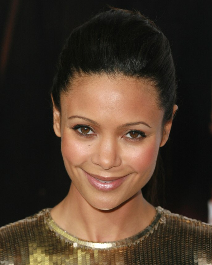 Thandie Newton High Hair Updo With Ponytail Rounded