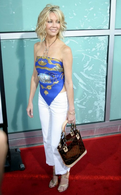 Stupendous Heather Locklear With Her Hair Short And Cut Into A One Length Bob Short Hairstyles Gunalazisus