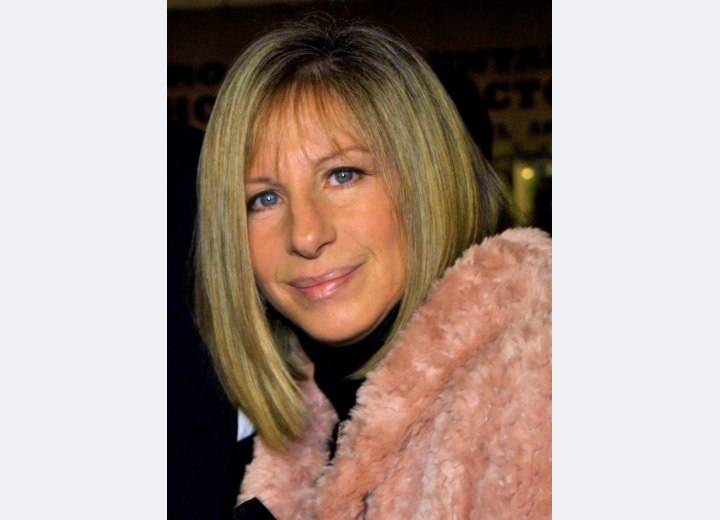 Barbara Streisand - Modern hairstyle for 60 plus women