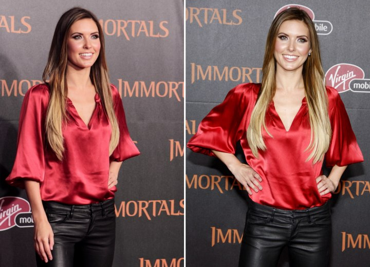 Audrina Patridge - Long hair with different shades of blonde