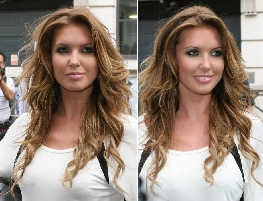 Audrina Patridge With Long Disheveled Hair In Layers And