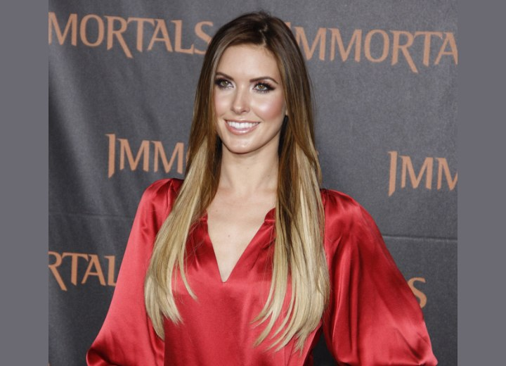 Audrina Patridge with sleek and almost waist long hair