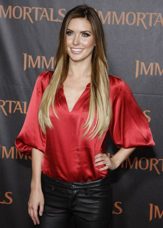 Audrina Patridge Wearing Her Hair Almost Waist Long And