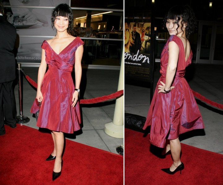 Bai Ling - Simple look with a classic silk dress