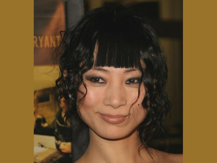 Bai Ling wearing her hair up