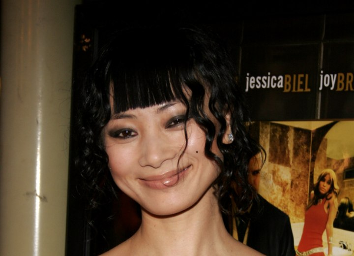 Bai Ling - Updo with straight bangs and curls