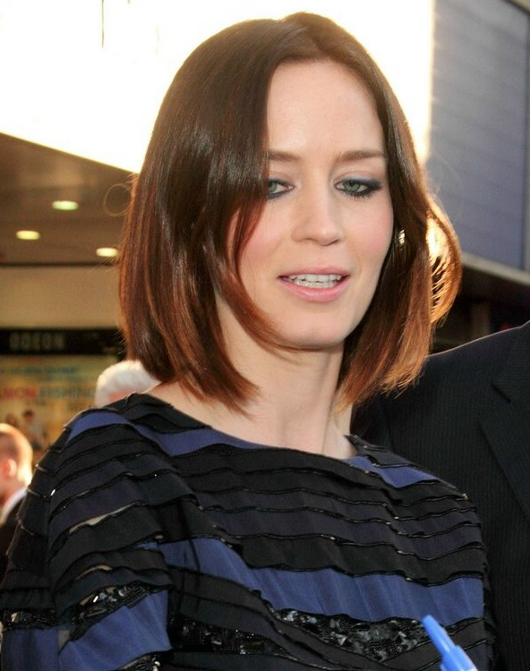 Excellent Emily Blunt39S Bob With A Shallow Angle Short Hairstyles Gunalazisus