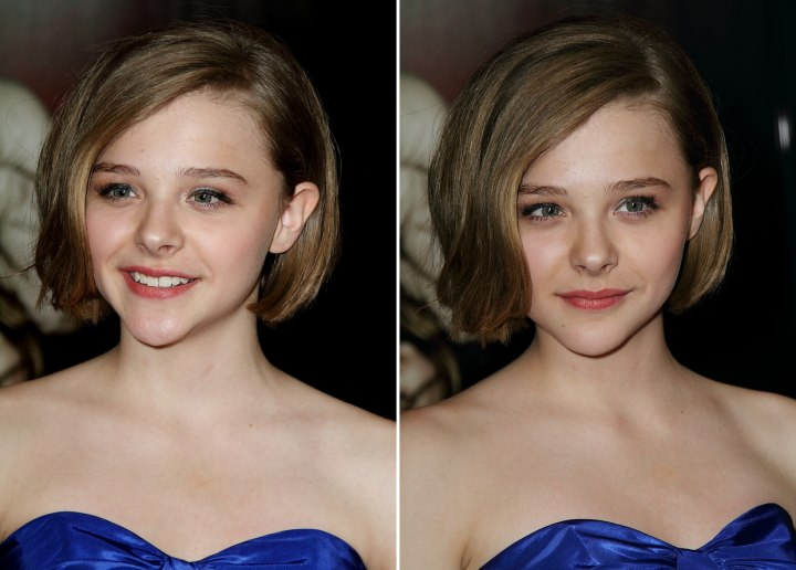 Bob haircut for a teenager - Chloë Moretz