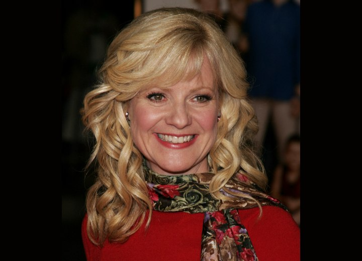 Bonnie Hunt - Long hairstyle with the hair away from the face