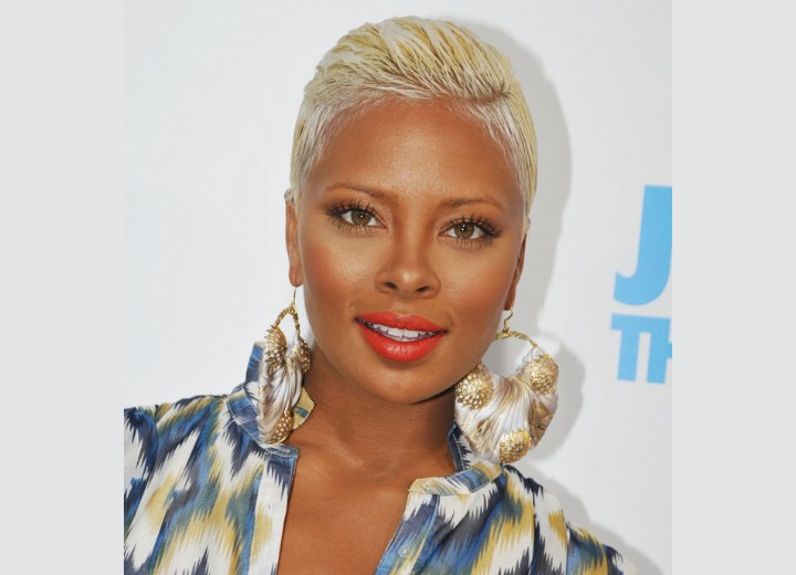 Eva Marcille S Boy Cut Very Short Bleached Hair That Is