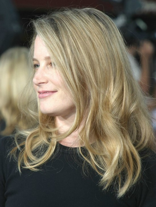 Bridget Fonda Long Hairstyle With Arcs That Frame The Face