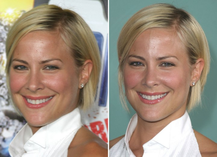 Brittany Daniel - Chin long blonde bob