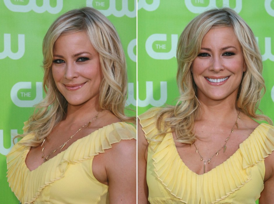 Brittany Daniel Long Layered Hairstyle With Off Center Parting And