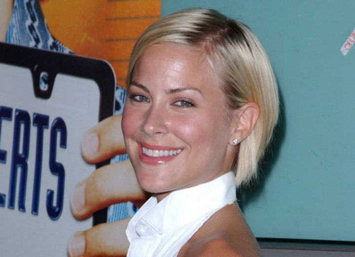 Brittany Daniel - Short tapered bob with a high nape