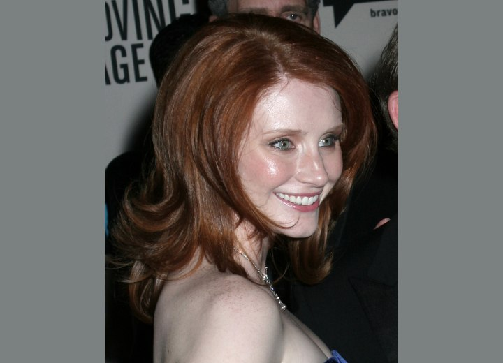 Side view of Bryce Dallas Howard's hairstyle