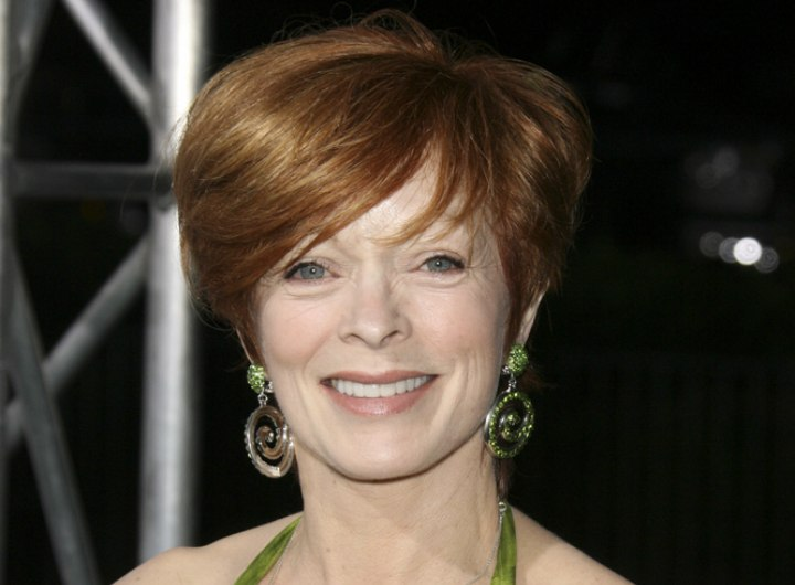 Around the ears hairstyle for busy women - Frances Fisher