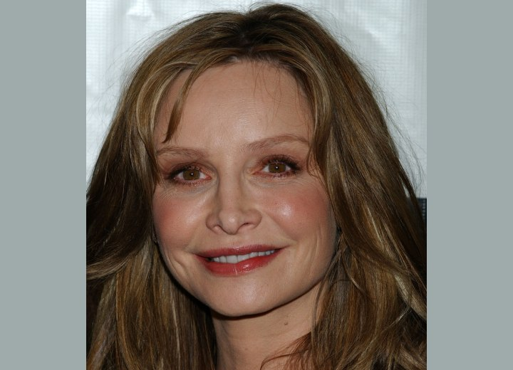 Close up photo of Calista Flockhart's hair