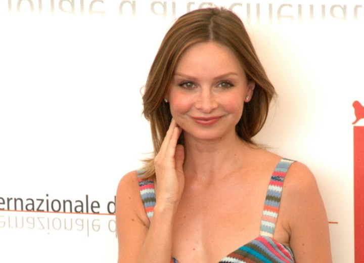 Calista Flockhart - Shoulder long style for medium brown hair