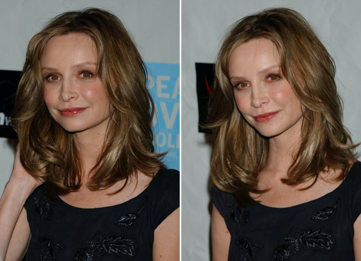 Calista Flockhart - Shoulder length hair with volume