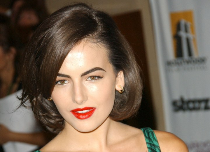 Camilla Belle hairstyle with undercut edge