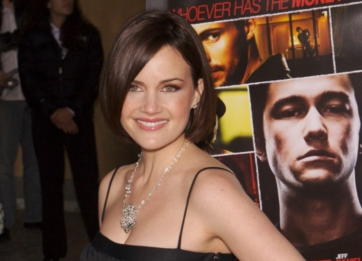Carla Gugino - Classic sleek bob haircut