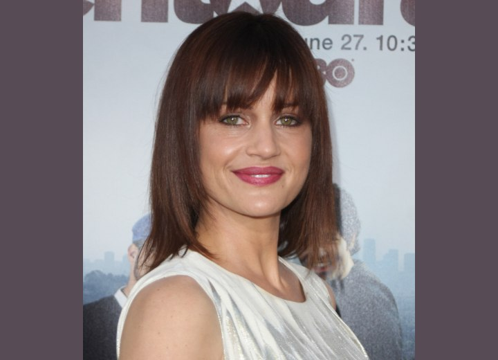 Simple long hairstyle with a smooth shape - Carla Gugino