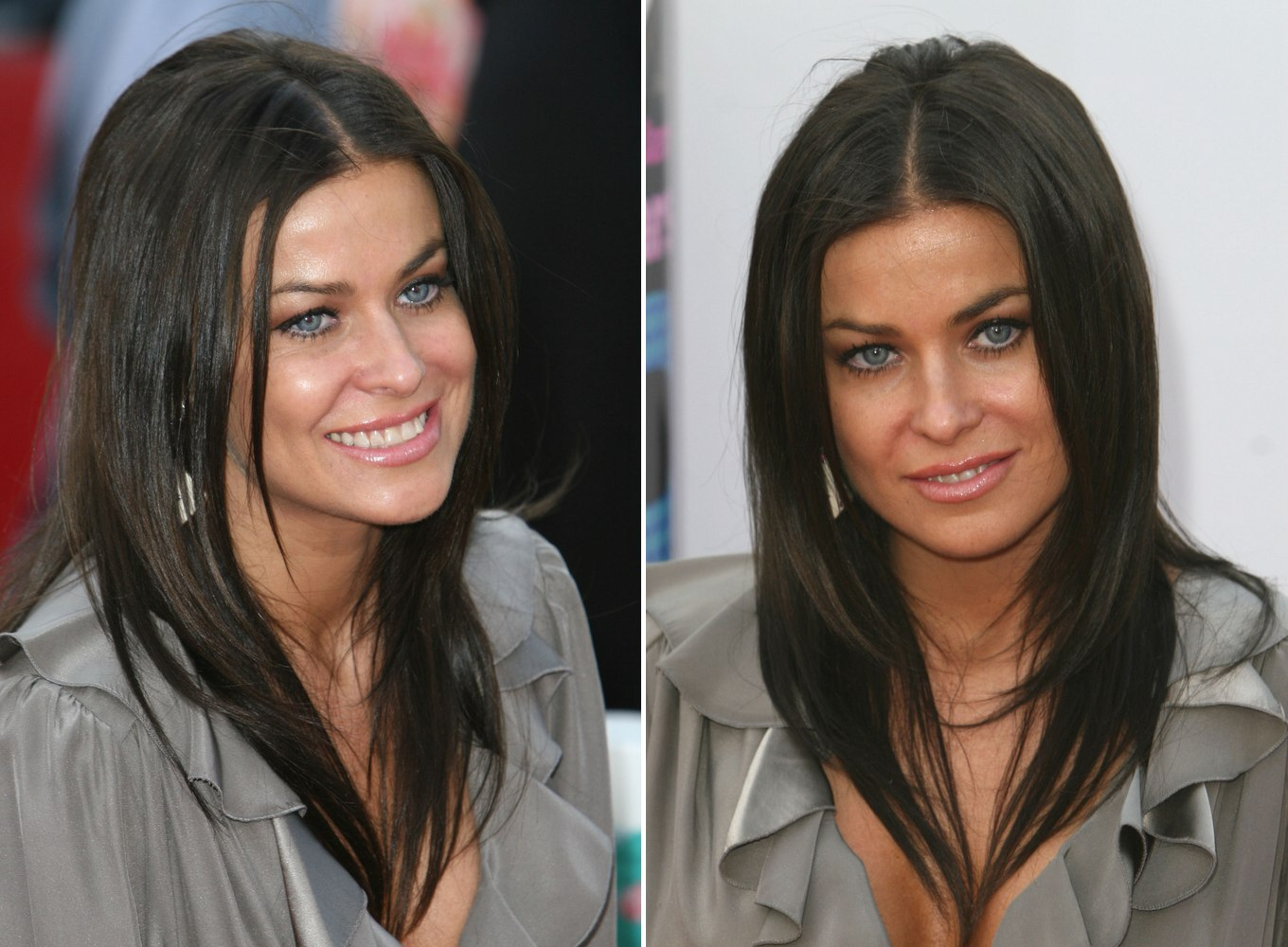Carmen Electra With Her Long Hair Tapered Around The Face