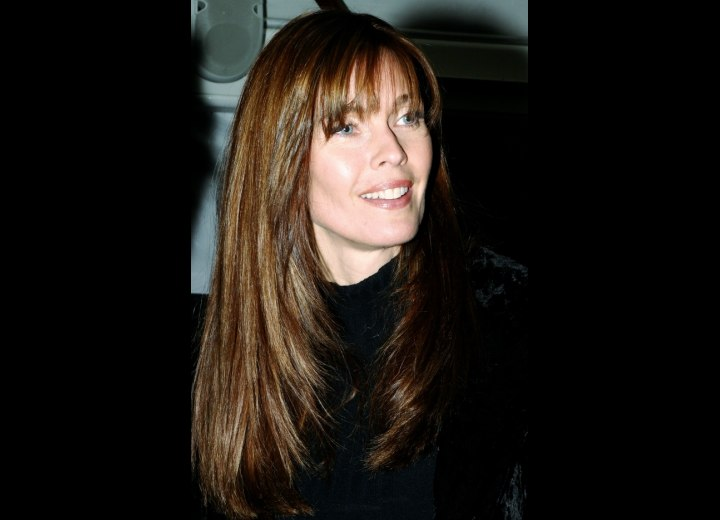 Carol Alt - Angled haircut for long hair