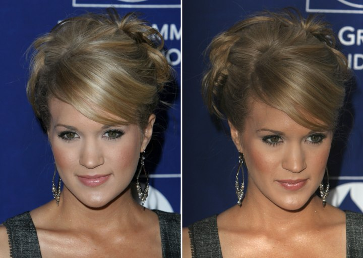 Carrie Underwood - Updo with curls at the back of the head