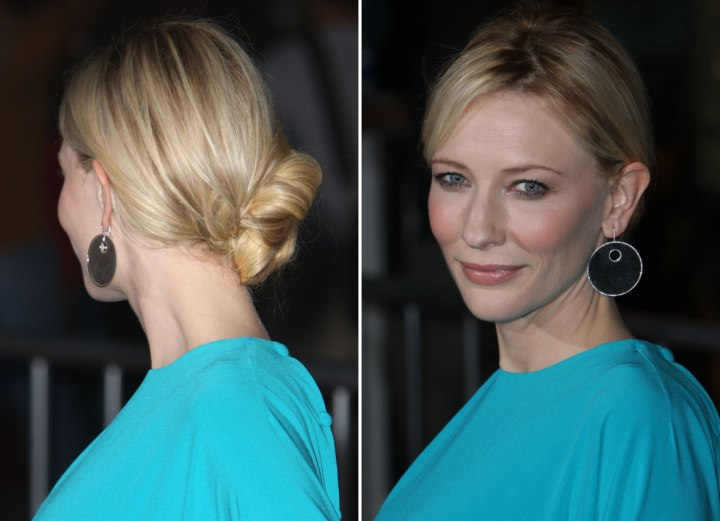 Back view of Cate Blanchett's knobbed chignon