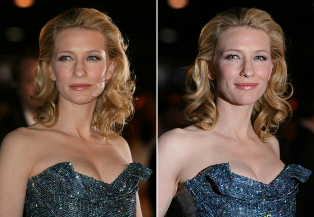 Cate Blanchett Wearing Her Shoulder Length Hair Back With