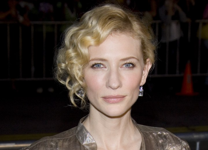 Cate Blanchett - Hair in an updo with messy curls