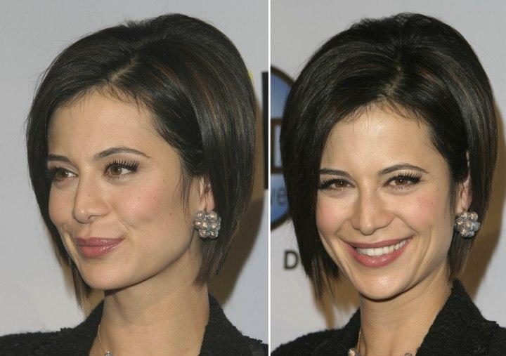 Catherine Bell - Classic bob hairstyle with the hair smoothed back