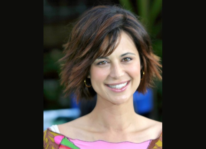 Catherine Bell- Short hairstyle with volume and movement