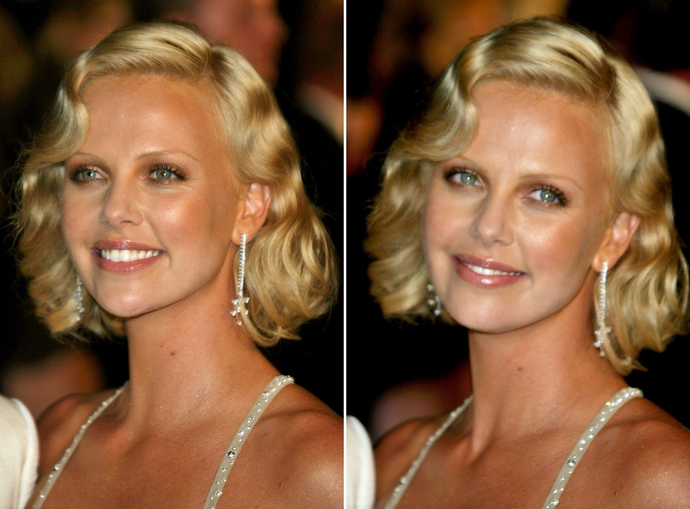Hair Style Of Death: Charlize Theron Sporting An Old Fashioned Hairstyle With Waves