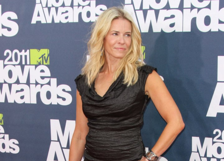 Chelsea Handler - Hair lifted to a high level of blonde