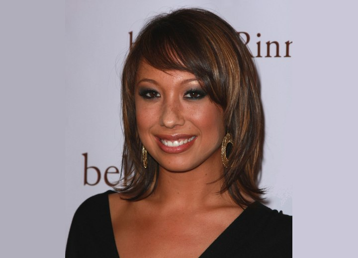 Cheryl Burke - Brown hair with highlights