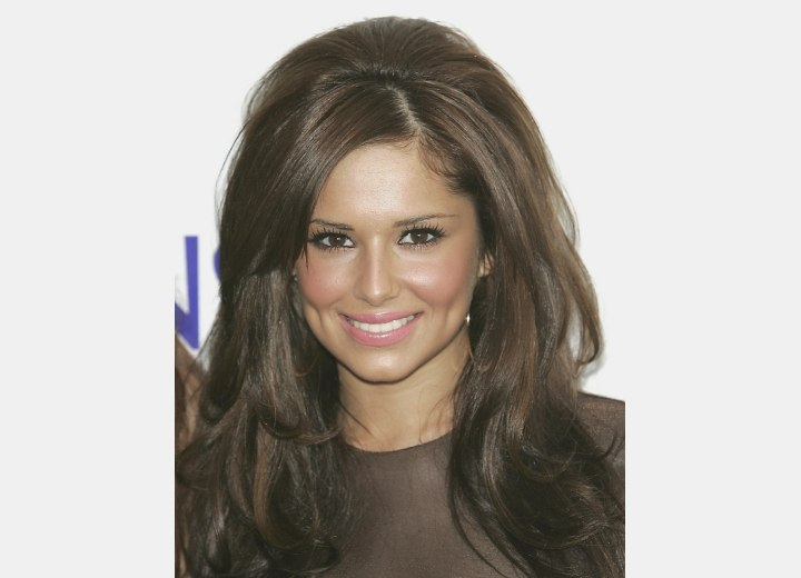 Cheryl Cole's long hair with gloss