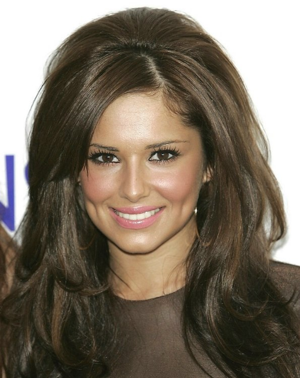 Cheryl Cole Wearing Her Long Hair With Volume In The Crown