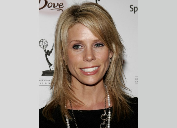 Cheryl Hines - Long textured hairstyle