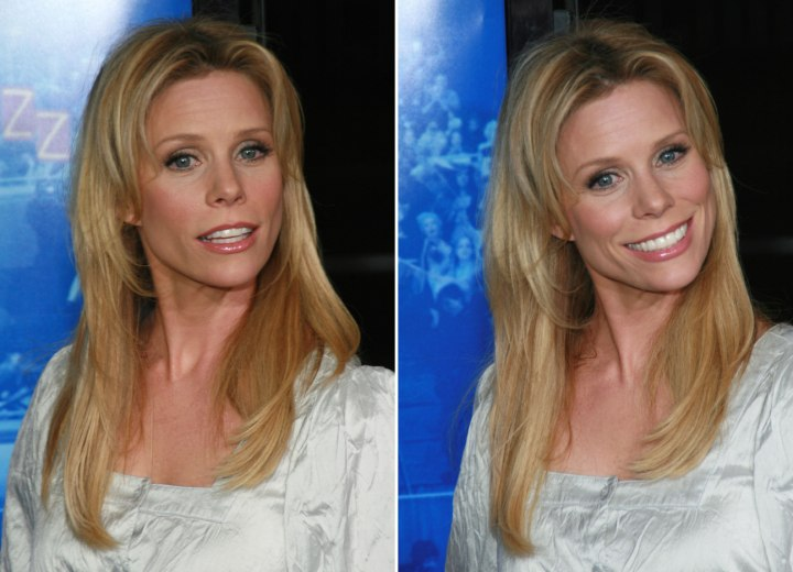 Tapered haircut for long hair - Cheryl Hines