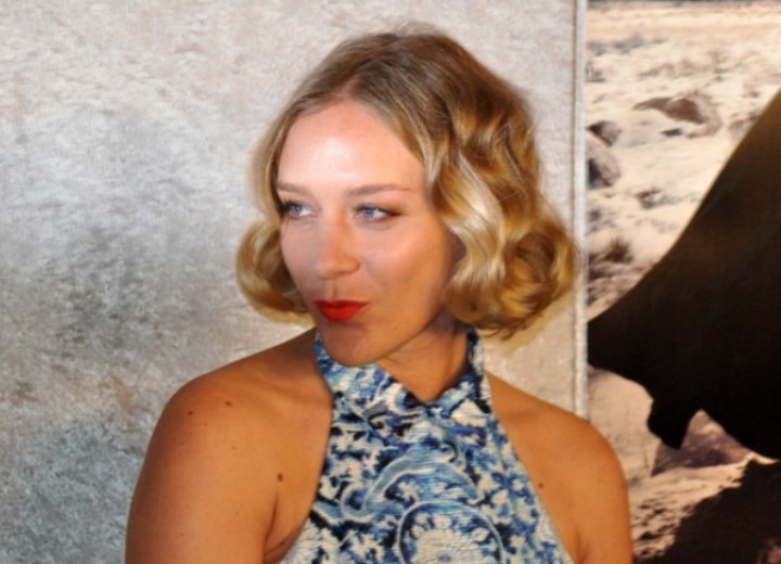 Chloë Sevigny's short hairstyle with waves and curls