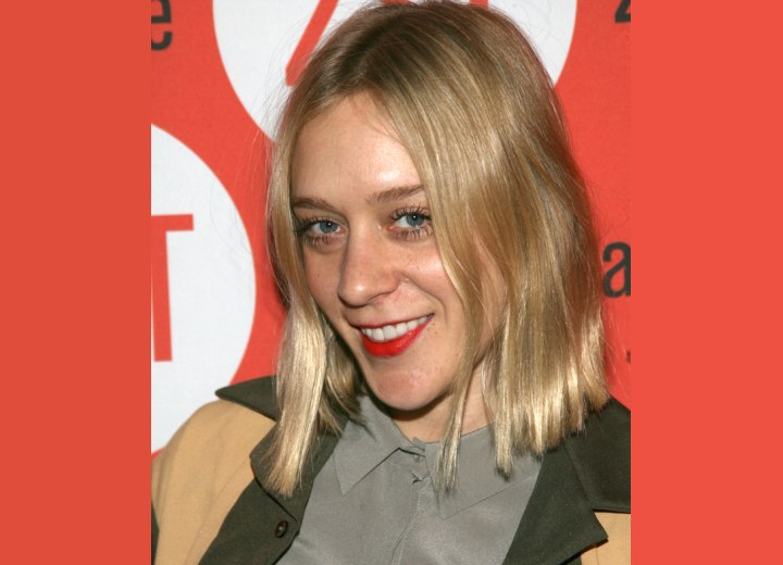 Chloë Sevigny - Simple bob hairstyle with bends upon the sides