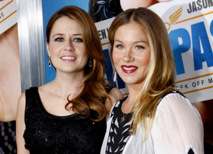 Christina Applegate and Jenna Fischer wearing their hair long