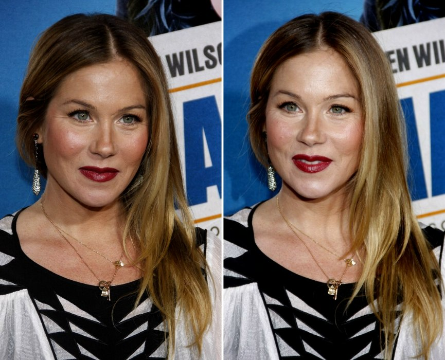 Christina Applegate Long Hair With Angled Sides And