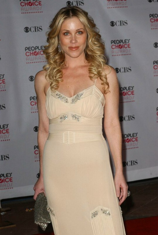 Christina Applegate S Long Blonde Hair Styled Into