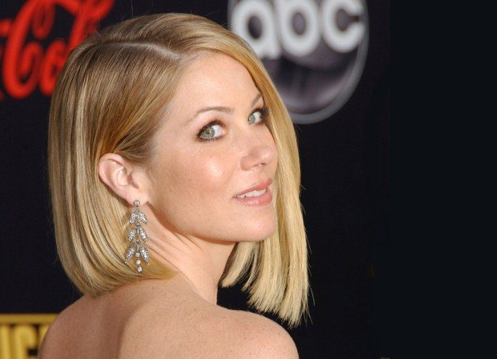 Christina Applegate - Long side parted bob hairstyle