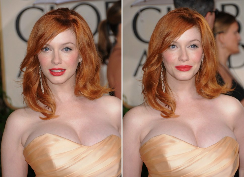 Admirable Christina Hendricks Long Red 1960S Hairstyle With Lazy Curls And Short Hairstyles Gunalazisus