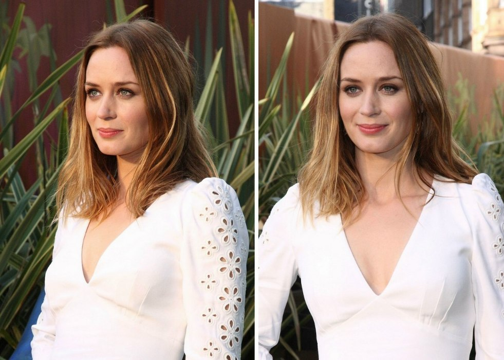Amazing Emily Blunt Wearing An Easy Going Long Hairstyle Short Hairstyles Gunalazisus